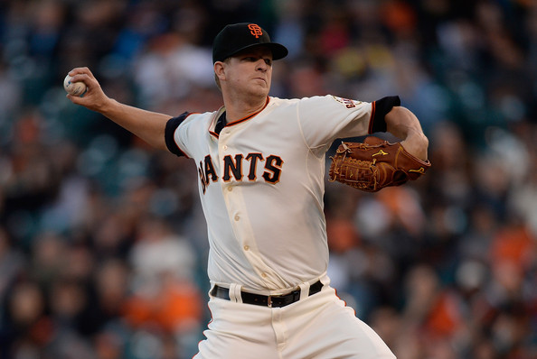 Matt Cain, #18, pitcher for the SF Giants
